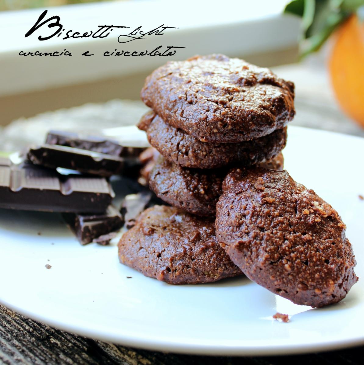 Biscotti light arancia e cioccolato